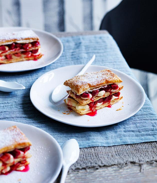 **Rhubarb millefeuille**