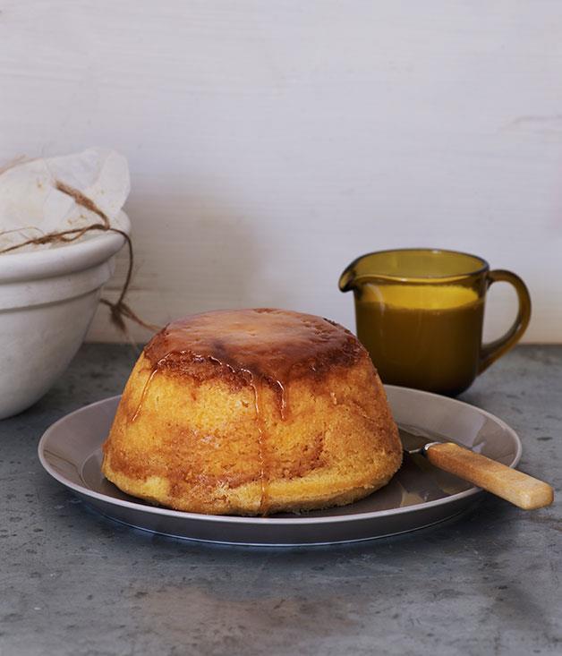 "**[Lemon and brown sugar pudding](https://www.gourmettraveller.com.au/recipes/chefs-recipes/lemon-and-brown-sugar-pudding-7864|target=""_blank"")**"