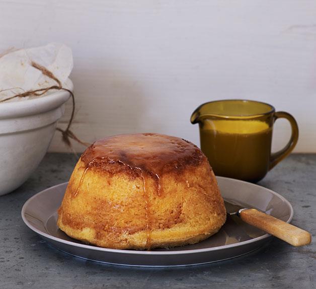 Lemon and brown sugar pudding