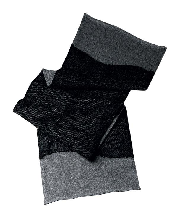 "**** Bottega Veneta ""Ardoise"" scarf, $500, 02 9239 0188."