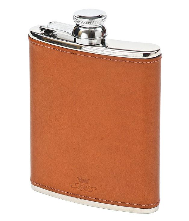"**** Marlborough World hip flask, $119, from [Hunt Leather](http://www.huntleather.com.au ""Hunt Leather"")."