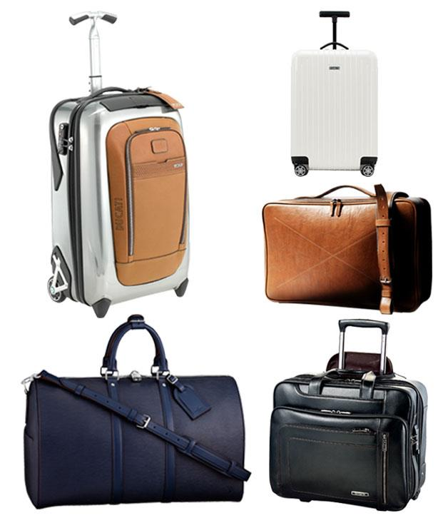 """**** Off on a short break or travelling light? Pack a style punch with these cabin-approved numbers.      1 Ducati for Tumi Evoluzione International Carry On, $995, (02) 9221 4408   2 Louis Vuitton Keepall 45 Overnight Bag, $3200, 1300 883 880   3 Rimowa Salsa Air, $600, [huntleather.com.au](http://www.huntleather.com.au/ """"Hunt Leather"""")   4 [Hard Graft](http://hardgraft.com/ """"Hard Graft"""") Carry On Suitcase in Smoke, $975   5 [Samsonite](http://samsoniteaustralia.com/ """"Samsonite"""") Savio Leather II Rolling Tote, $529"""