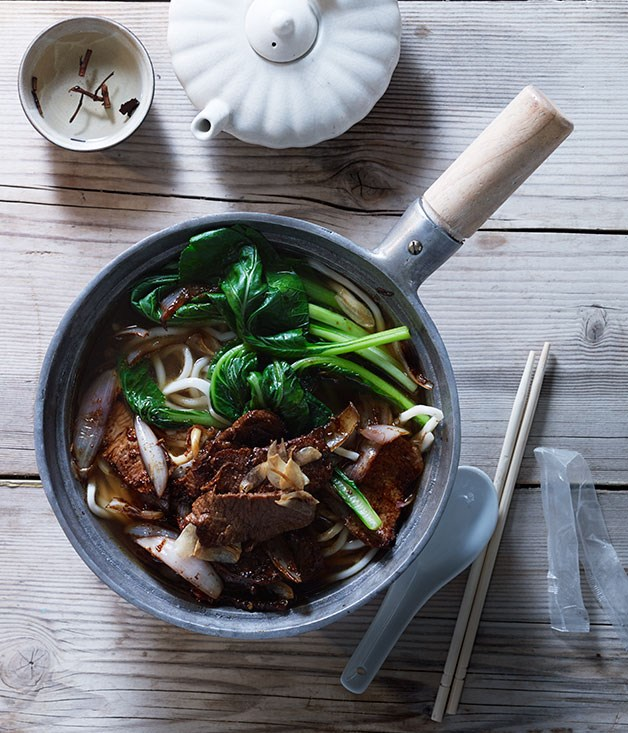 """**[Xinjiang-style noodle soup](https://www.gourmettraveller.com.au/recipes/browse-all/xinjiang-style-noodle-soup-11723