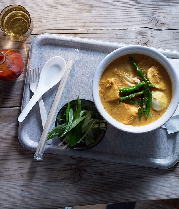 """**[Laksa with tofu, eggs and snake beans](https://www.gourmettraveller.com.au/recipes/browse-all/laksa-with-tofu-eggs-and-snake-beans-11727 target=""""_blank"""")**"""