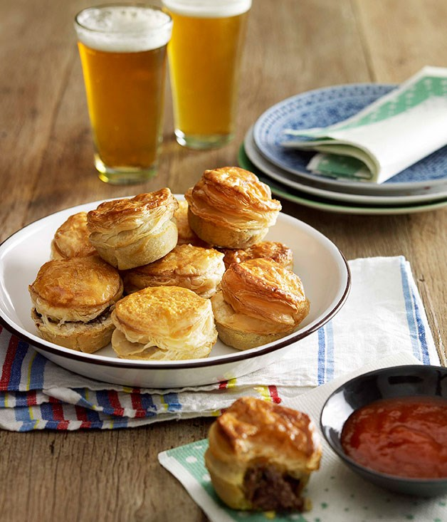 """[**Party pies**](https://www.gourmettraveller.com.au/recipes/browse-all/party-pies-8699