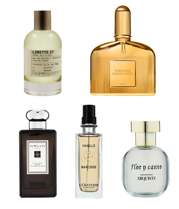 """**** Try a fine fragrance inspired by some of the world's most memorable places.  1 Le Labo Limette 37 (San Francisco), $121, exclusively from [Le Labo](http://www.lelabofragrances.com/ """"Le Labo""""), 2238 Fillmore St, San Francisco, and Barney's San Francisco.  2 Tom Ford Sahara Noir (Arabia), Tom Ford Sahara Noir, $230 for 50ml eau de parfum, from David Jones city stores only, 1800 061 326  3 Jo Malone London Saffron (Persia) Cologne Intense, $230 for 100ml, 1800 661 062  4 L'Occitane La Collection de Grasse (France), $80 for 75ml eau de toilette, (02) 8912 3000  5 Arquiste Parfumeur Flor y Canto (Mexico), $189 for 55ml eau de parfum, from [Becker Minty](http://beckerminty.com/ """"Becker Minty""""), (02) 8356 9999"""