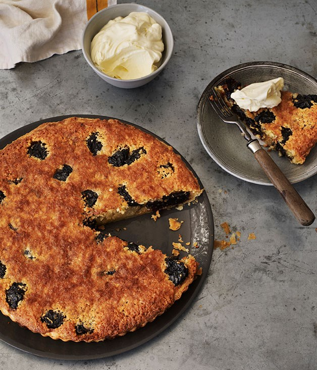Almond, prune and rum tart