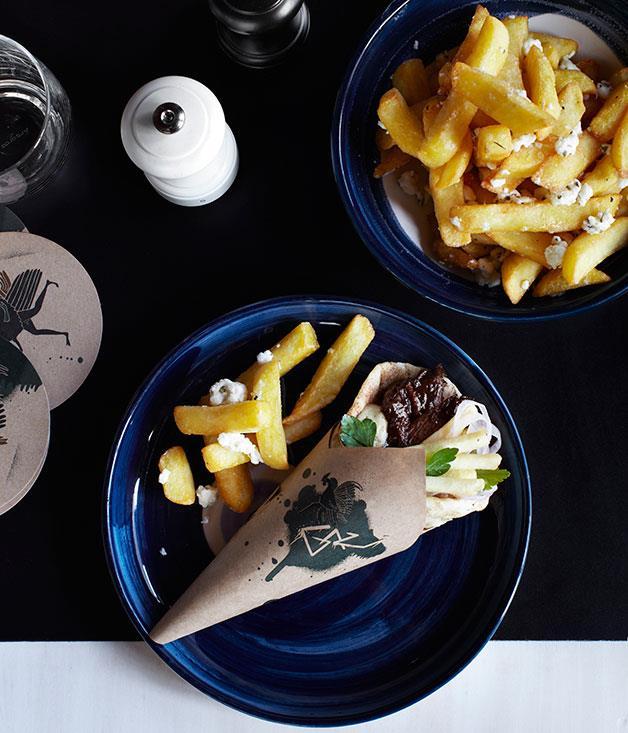 "**[George Calombaris' beef brisket souva](http://www.gourmettraveller.com.au/recipes/chefs-recipes/beef-brisket-souva-7888|target=""_blank"")**"