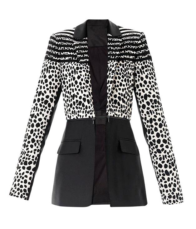 "**** Preen jacket, $1535, from [Matches Fashion](http://www.matchesfashion.com ""Matches Fashion"")."