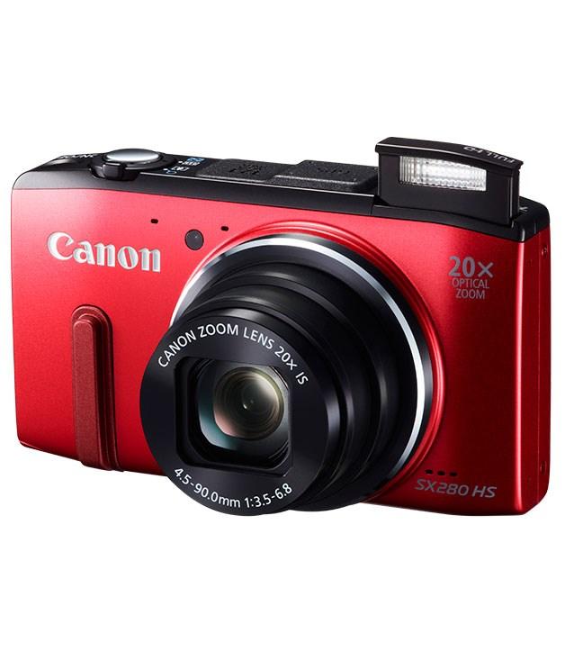 "**** [Canon](http://www.canon.com.au ""Canon"") ""Powershot"" SX280HS compact camera, $273."