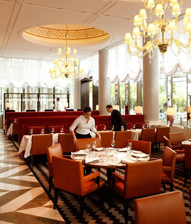 **NEW RESTAURANT OF THE YEAR** **Rosetta, Melbourne, Vic**   A dramatic, exuberant, theatrical fantasy of an Italian restaurant stacked with Murano glass, and swathes of marble and timber panelling, Neil Perry's Rosetta embraces the classic tropes of Italian restaurant design with aplomb and humour. But it's the food - an extensive pan-Italian list of wood-roasted meat and seafood, pasta, cheese and brilliant desserts, all stamped with Perry's trademark ingredient fanaticism - that grounds the dream in reality.