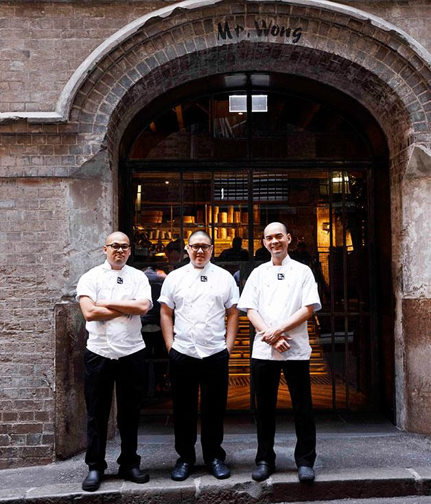 **NEW RESTAURANT OF THE YEAR** **Mr Wong, Sydney, NSW**   New? Technically, yes - Mr Wong opened just as the last edition of our restaurant guide hit the stands. Since then, talk of the dollars spent in its construction (something in the realm of $4 million) has been eclipsed by talk of how brilliant the Merivale take on Cantonese cooking is, how much danger lies in the quality of the wine list and - crucially - how to nab a table.