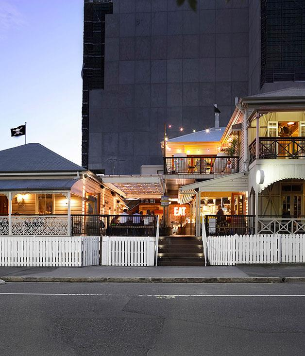 **Bar of the Year** **Alfred & Constance, Brisbane, Qld**   The brainchild of Damian Griffiths, this anarchic hub is housed in a pair of quirkily decorated repurposed timber homes. At its core is The Vanguard Beer Garden where a Josper grill and Alan Scott-designed oven combine to produce bar-raising eats. Up top there's a troppo tiki bar complete with a drinking wheel-of-fortune; downstairs the black-tiled Air Raid Shelter. And keeping it all on track? Award-winning bartender, Perryn Collier. Quintessentially Queensland.