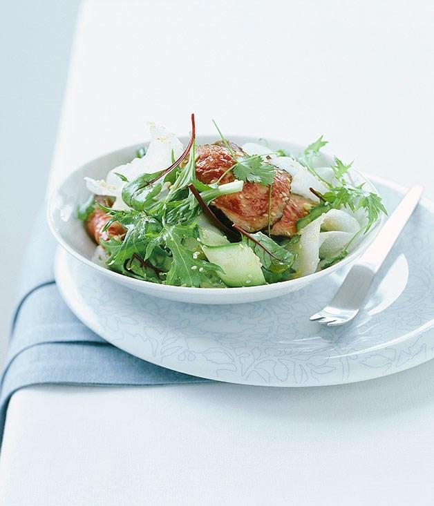 **Wagyu tataki with mizuna salad**