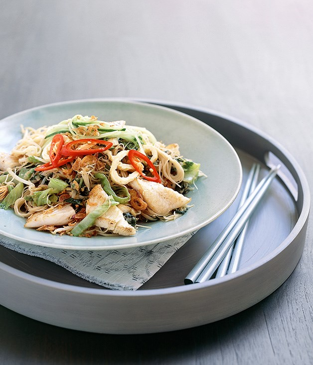 Malay-style beehoon noodles with John Dory