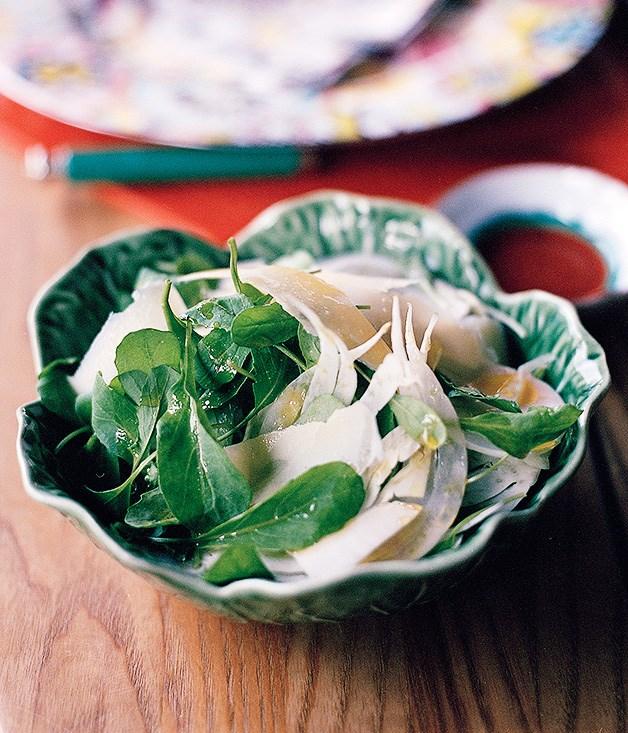 Rocket, fennel and parmesan salad