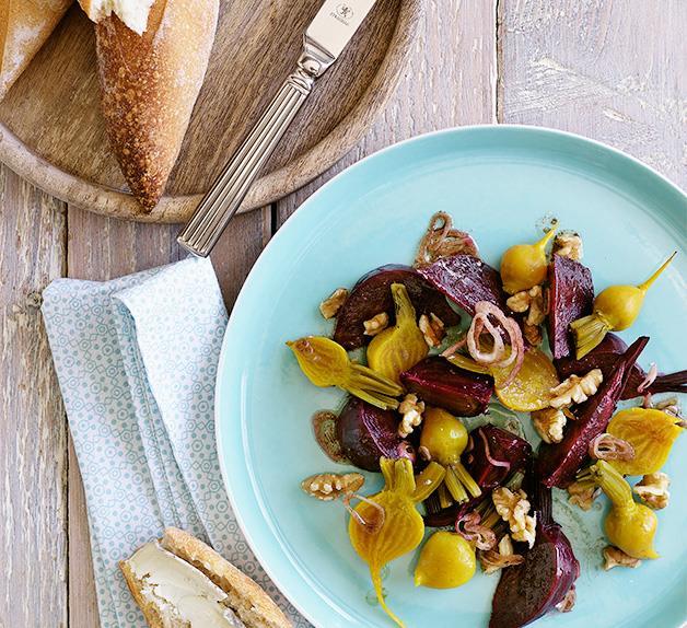 Beetroot and walnut salad