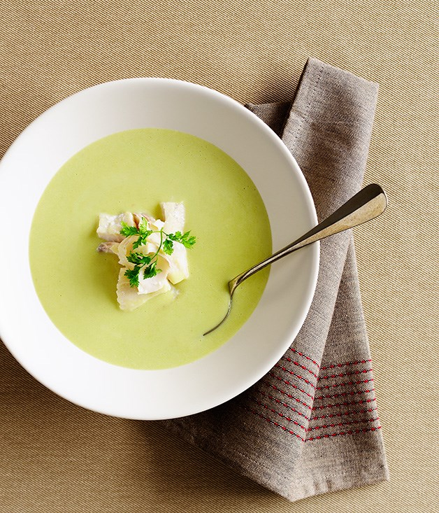 Cream of fennel soup with smoked haddock