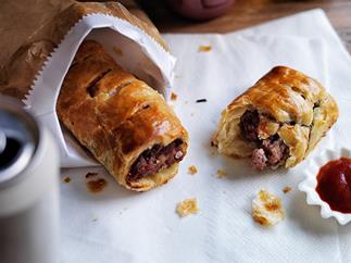 Pork, veal and fennel sausage rolls