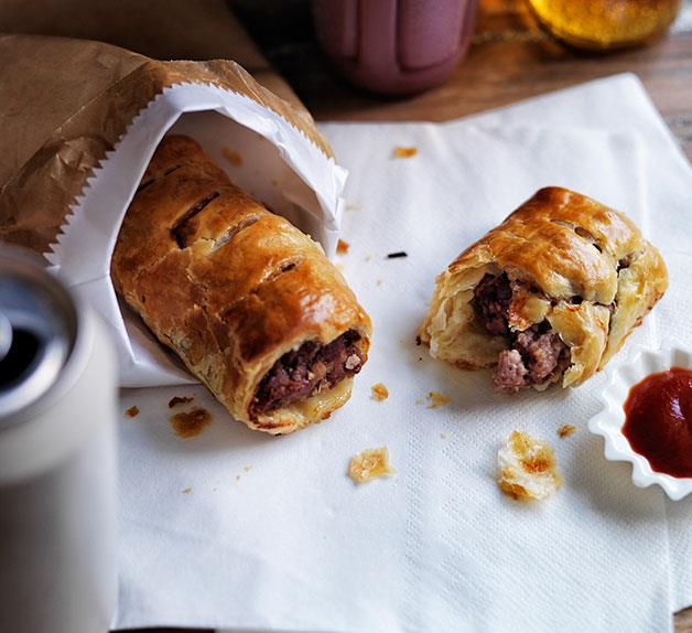 Pork, veal and fennel sausage rolls