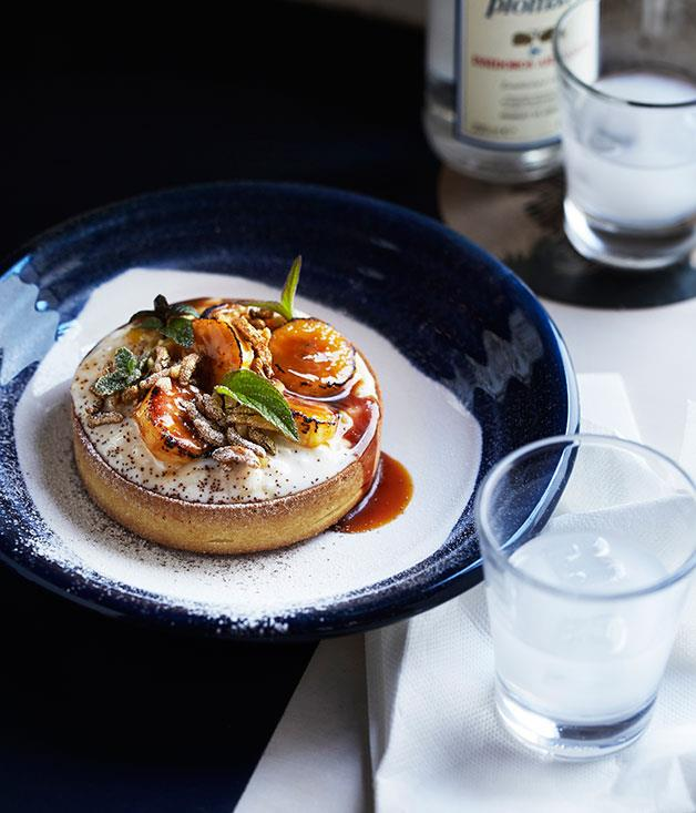 "**[George Calombaris's risogalo tart](https://www.gourmettraveller.com.au/recipes/chefs-recipes/risogalo-tart-7899|target=""_blank"")**"