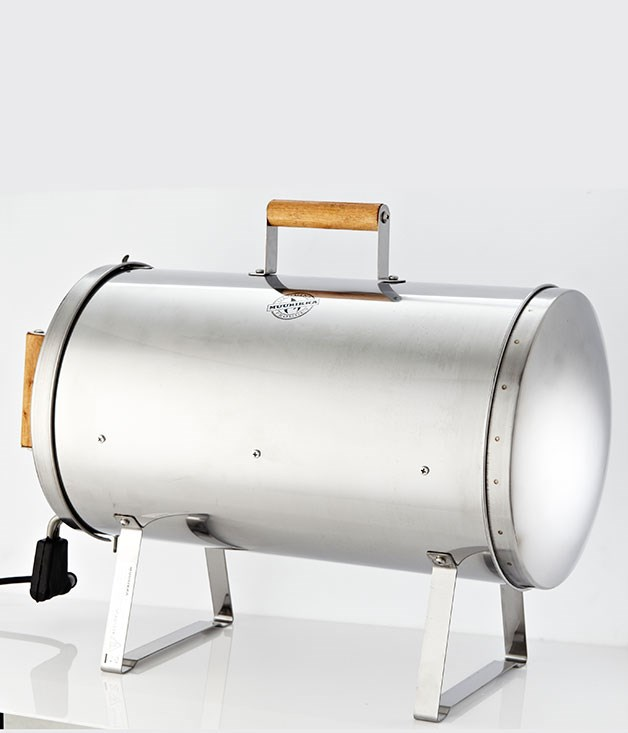 "**MUURIKKA ELECTRIC SMOKER** Sure, you could give Dad a new barbecue, or you could think outside the box and get him this stainless steel Muurikka electric smoker. It roasts, grills and smokes - the perfect addition to the backyard. _$249, [muuri.com.au](http://www.muuri.com.au ""Muuri"")_"