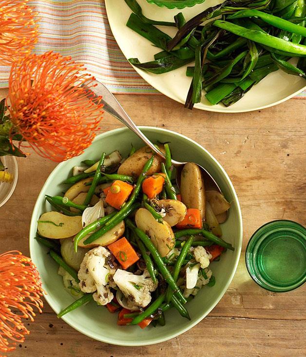 "[**Oaxacan vegetable salad**](https://www.gourmettraveller.com.au/recipes/browse-all/oaxacan-vegetable-salad-10226|target=""_blank"")"