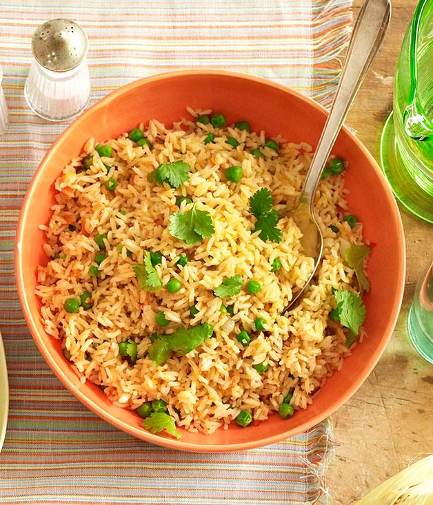 """[**Mexican red rice**](https://www.gourmettraveller.com.au/recipes/browse-all/mexican-red-rice-10228