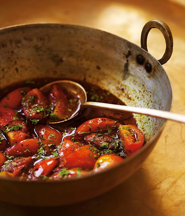 """[**Sweet-and-sour tomatoes**](https://www.gourmettraveller.com.au/recipes/chefs-recipes/christine-manfield-sweet-and-sour-tomatoes-7689