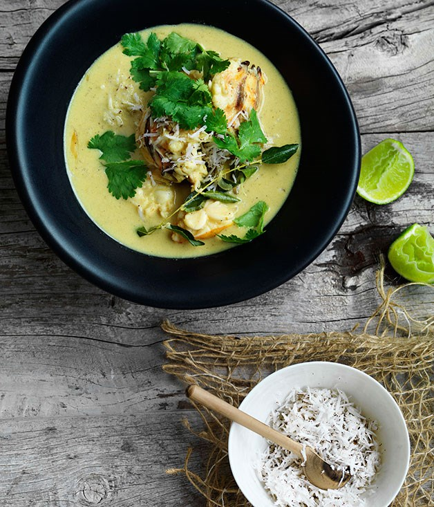 **Lobster in coconut broth with Indian aromatics**