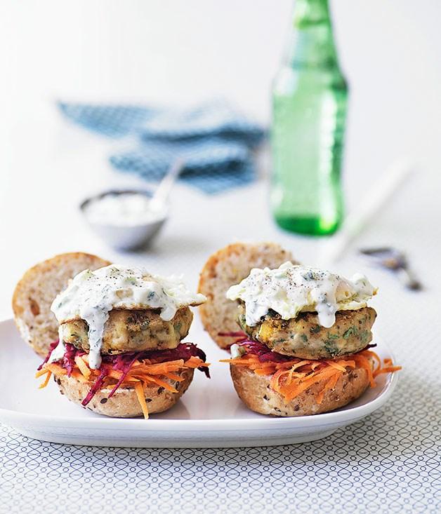 "[**Indian vegie burgers**](https://www.gourmettraveller.com.au/recipes/browse-all/indian-vegie-burgers-9928|target=""_blank"")"