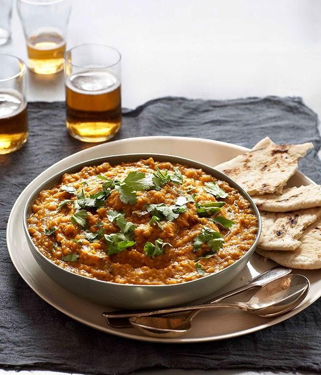 "[**Tarka dal**](https://www.gourmettraveller.com.au/recipes/chefs-recipes/tarka-dal-8937|target=""_blank"")"