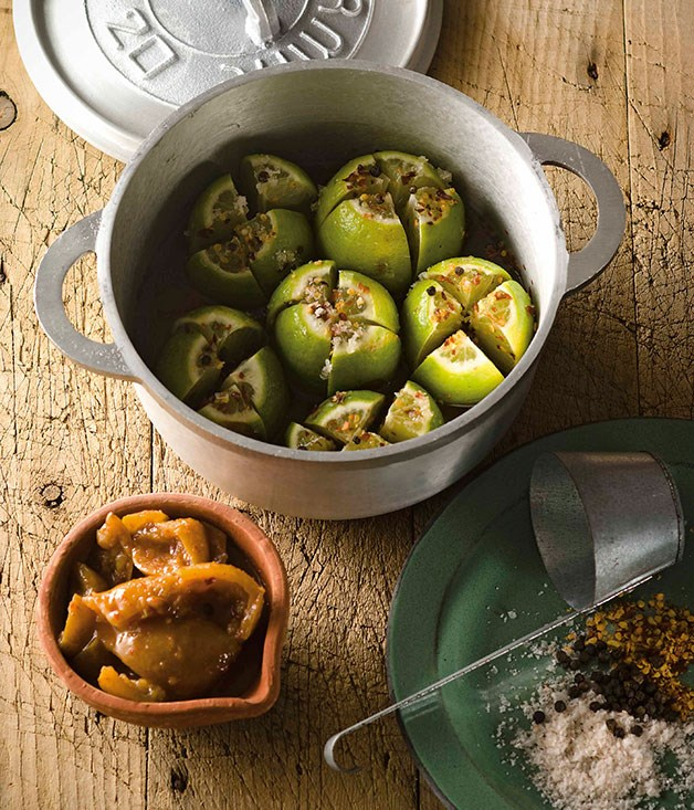 """[**Lime pickle**](https://www.gourmettraveller.com.au/recipes/chefs-recipes/peter-kuruvita-lime-pickle-7441