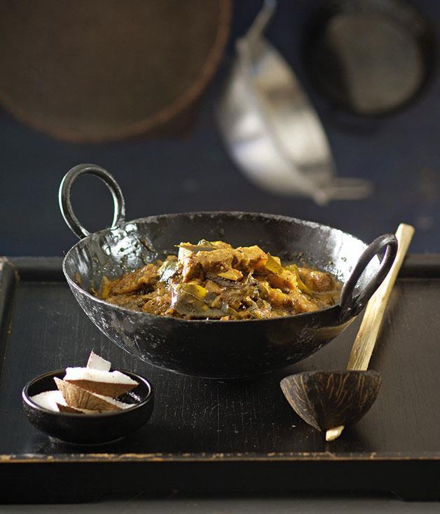 "[**Pork curry**](https://www.gourmettraveller.com.au/recipes/chefs-recipes/peter-kuruvita-pork-curry-7451 target=""_blank"")"
