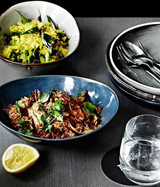 "**[Tonka's Hyderabadi chicken biryani](https://www.gourmettraveller.com.au/recipes/chefs-recipes/hyderabadi-chicken-biryani-7903|target=""_blank""|rel=""nofollow"")**"