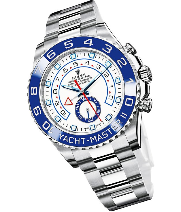 "**** [Rolex](http://rolex.com ""Rolex"") ""Oyster Perpetual Yacht-Master II"", $19,855."