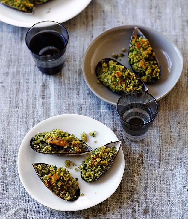 **Gratinated mussels**