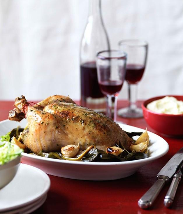 "[**Roast tarragon chicken**](https://www.gourmettraveller.com.au/recipes/browse-all/roast-tarragon-chicken-10100|target=""_blank"")"