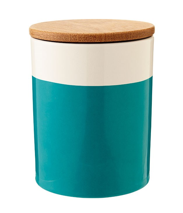 "**** With sweet oak lids, [Helbak's ceramic canisters](http://www.asgerdesign.com/ ""Asger Design"") (in powder blue, green, mint, petrol and grey, from $48) are just our kind of storage solution."