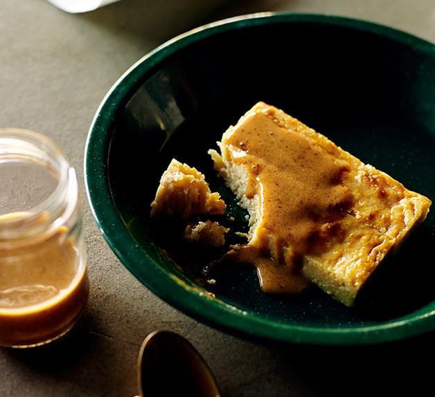 Caramelised milk and almond cake