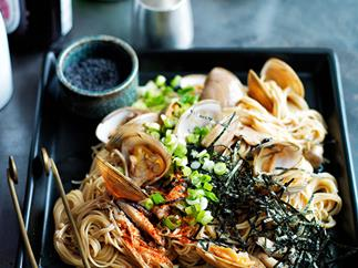 Japanese clam and angelhair pasta