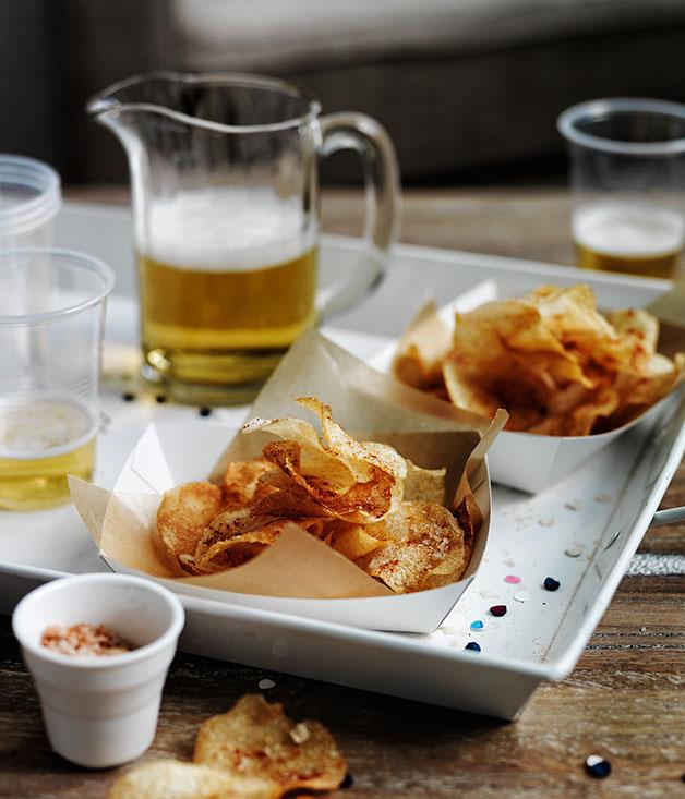 "[**Smoked salt and vinegar chips**](https://www.gourmettraveller.com.au/recipes/browse-all/smoked-salt-and-vinegar-chips-11743|target=""_blank"")"