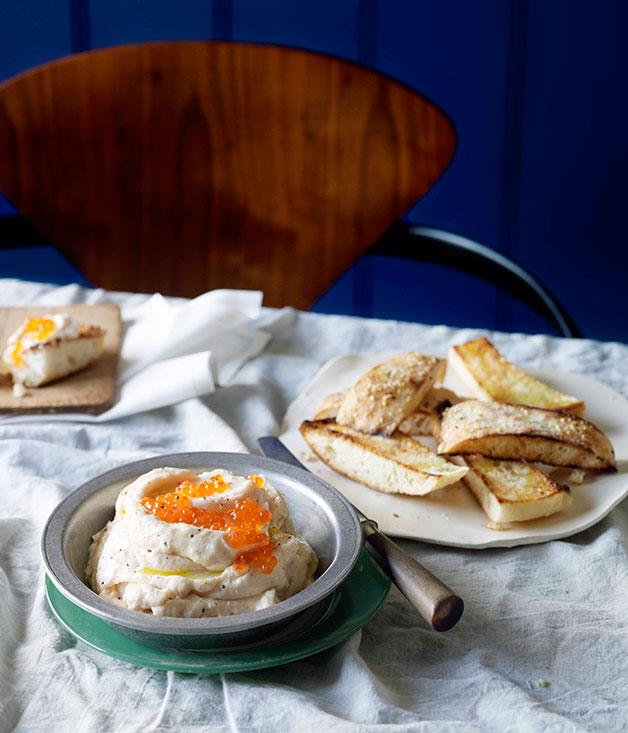 "[**Whipped cod roe**](https://www.gourmettraveller.com.au/recipes/chefs-recipes/whipped-cod-roe-9125|target=""_blank"")"