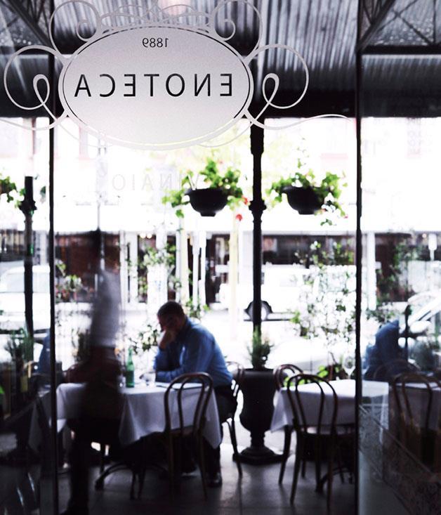 "[1889 Enoteca](https://www.gourmettraveller.com.au/dining-out/restaurant-reviews/1889-enoteca-6776|target=""_blank"")"