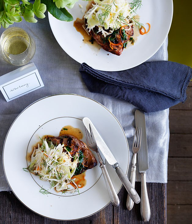 Twice-cooked duck with celeriac salad
