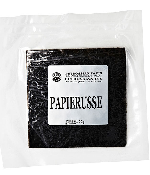 "**Caviar paper**  It's the latest from [Petrossian](http://www.finefrenchfood.com.au ""Fine French Food""), and makes a most luxe sandwich; $65 per 20gm sheet."