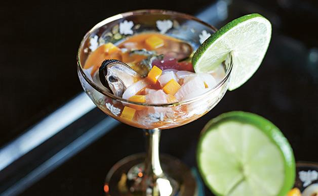 Ceviche with tiger's blood