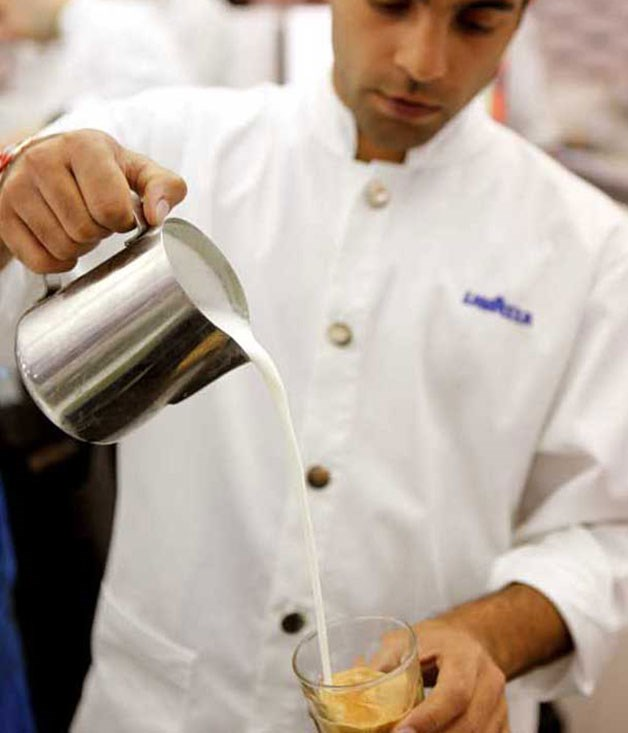 **** Coffee, anyone? The Lavazza marquee (2011).