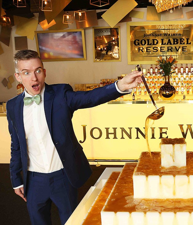 **** Jellymonger Sam Bompas at this year's Johnnie Walker marquee.