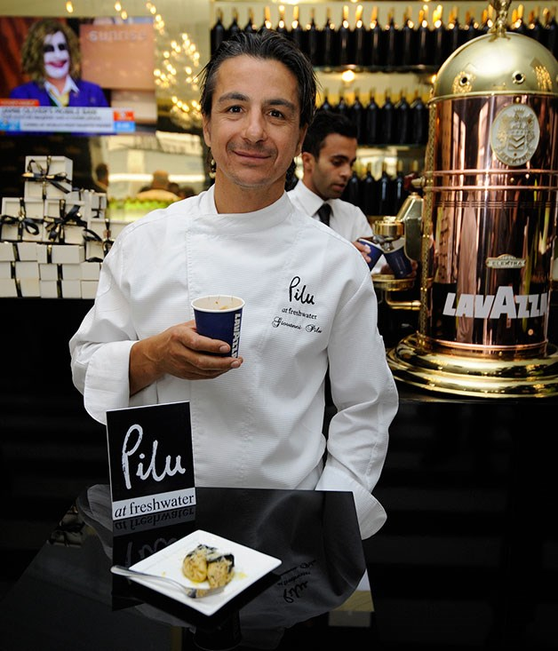 **** Chef Giovanni Pilu who'll be cooking in the Lavazza marquee.